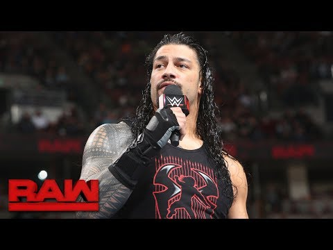 "Roman Reigns lays into absent, ""entitled"" Brock Lesnar: Raw, Feb. 26, 2018"