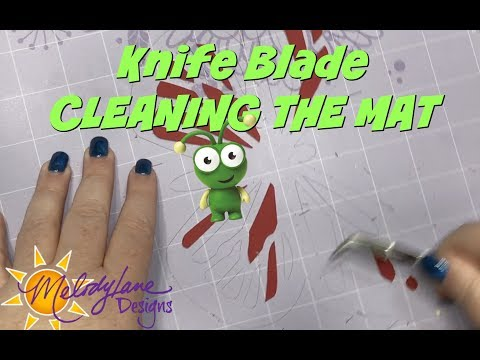 Cleaning the Mat after Knife Blade