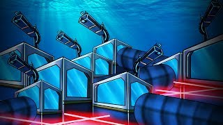 Minecraft | SECURE UNDERWATER BASE CHALLENGE! (Lasers, Turrets, Traps)