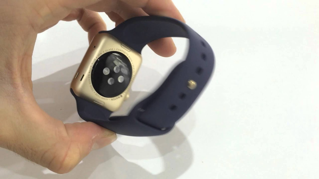 a5b759bfbd9ea7 Apple Watch Sport 42mm Gold Aluminum Case with Midnight Blue Sport Band
