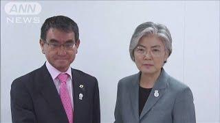 日韓外相が輸出規制問題など議論 両国の主張平行線(19/08/01)
