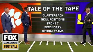 Tale of the Tape for the college football championship | CFB ON FOX