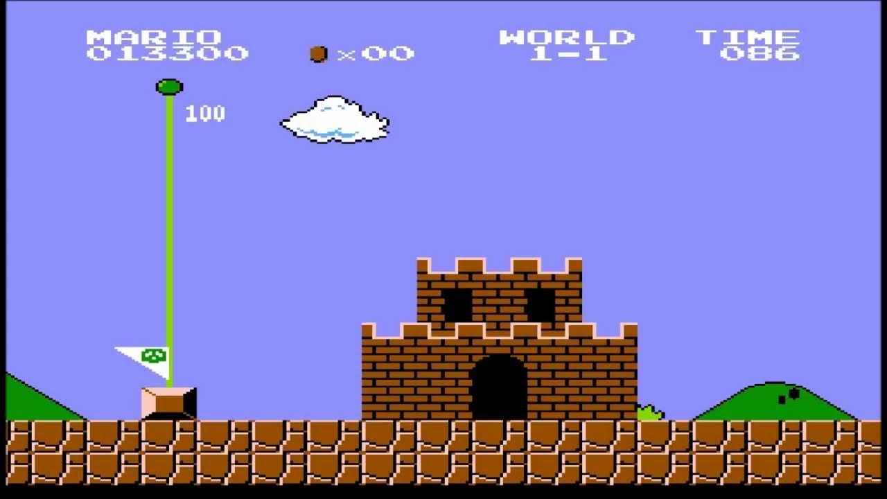 Mario Nes Level 1-1 fastest time (no tunnel) - YouTube