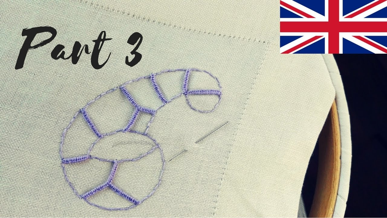 Embroidery tutorial cutwork part youtube