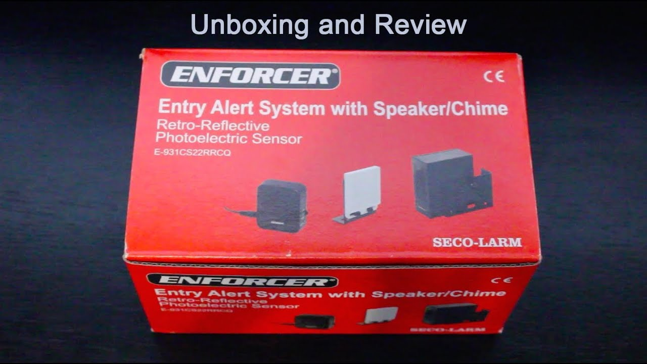 Enforcer Entry Alert System  Unboxing And Review