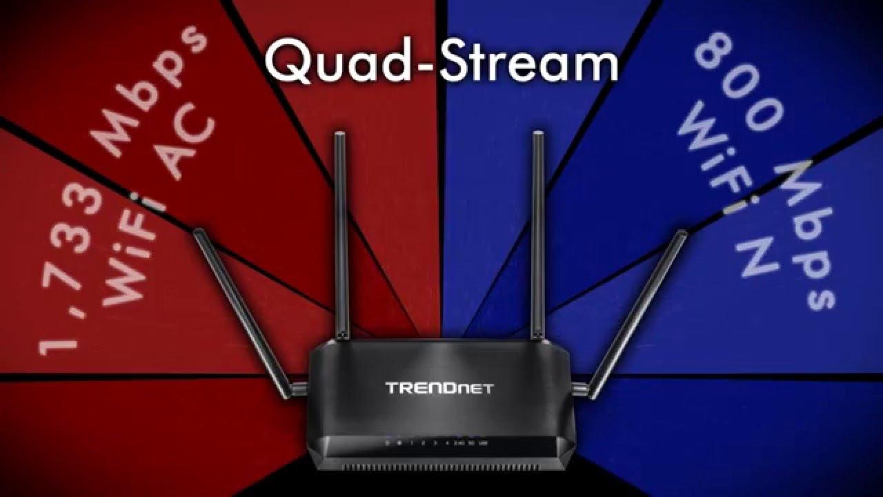 AC2600 StreamBoost™ MU-MIMO WiFi Router - TRENDnet TEW-827DRU