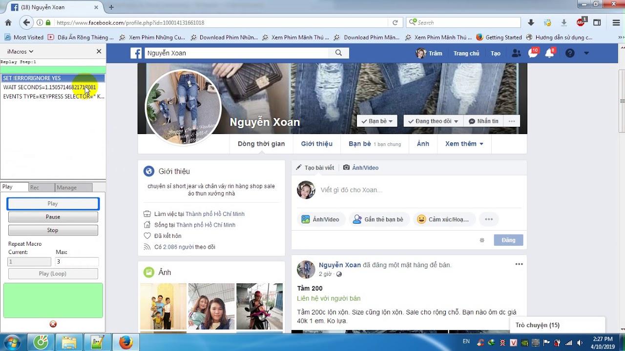 Hot : Code auto lấy bạn bè Facebook người khác qua bình luận (get ID friend on Facebook via comment)