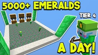 THIS FARM MAKES 5000+ EMERALDS A DAY... - Hypixel Skyblock