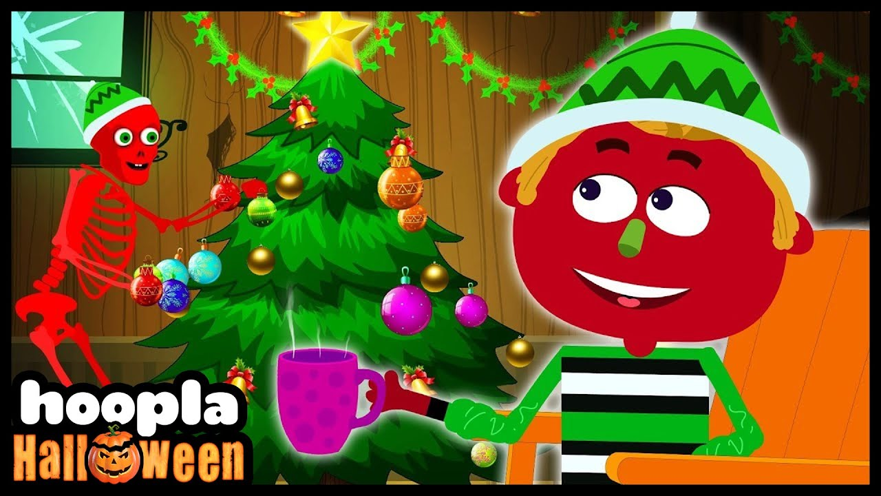 Deck The Halls | Christmas Funny Skeletons Nursery Rhymes For Kids | Hoopla Halloween