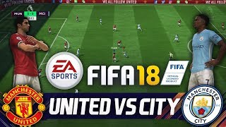 FIFA 18 Manchester United vs Manchester City⚽ 6 Tore Full Gameplay - FIFA 18 Vollversion PMTV