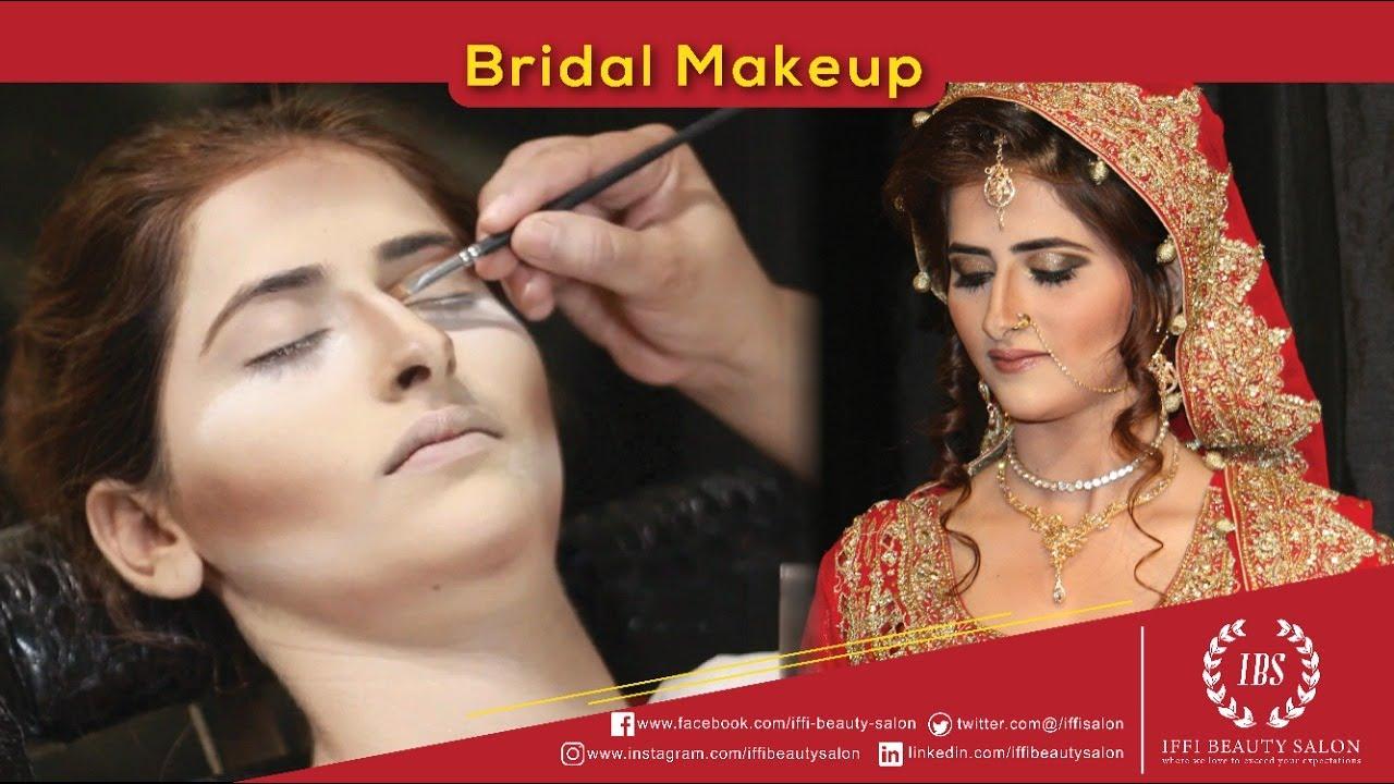 Bridal Makeup Model Nayab Chaudhary Iffi Beauty Salon Youtube