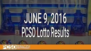 PCSO Lotto Results June 9, 2016 (6/49, 6/42, 6D, Swertres & EZ2)