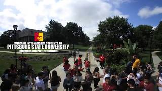 360 International Student Group Photo (BTS) - Pittsburg State University