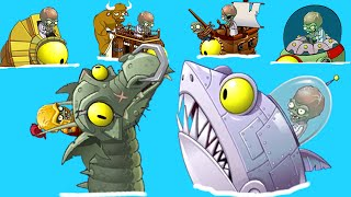 Plants vs. Zombies 2 - Every Zomboss Fight! (Shark vs Dragon vs Sphinx vs Plank vs Tron vs Wagon!) thumbnail