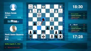 Chess Game Analysis: Erkan Solak - Raéli Sales Bezerra : 0-1 (By ChessFriends.com)