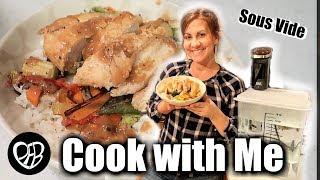 What's for dinner? | Easy Chicken Dinner Idea | Sous Vide Chicken Teriyaki Bowl Dinner Cook with ME