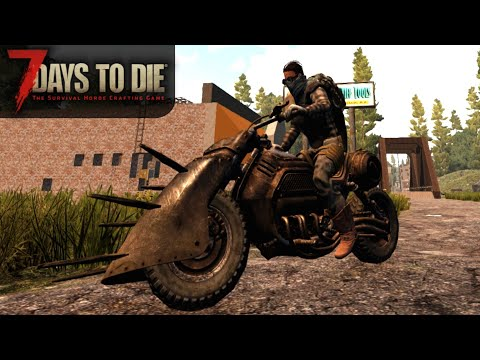 Motorcycle Upgrade & Questing For SICK LOOT | 7 Days To Die | Alpha 17 Gameplay | E18