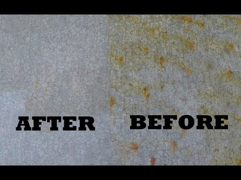 Remove fertilizer stains from concrete driveway for Remove stains from concrete driveway