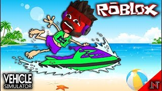 ROBLOX Indonesia #81 Vehicle Simulator | Buy a mountain Jetski Kocak while riding