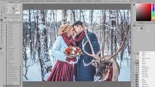 Художественная обработка и коррекция свадебной фотографии