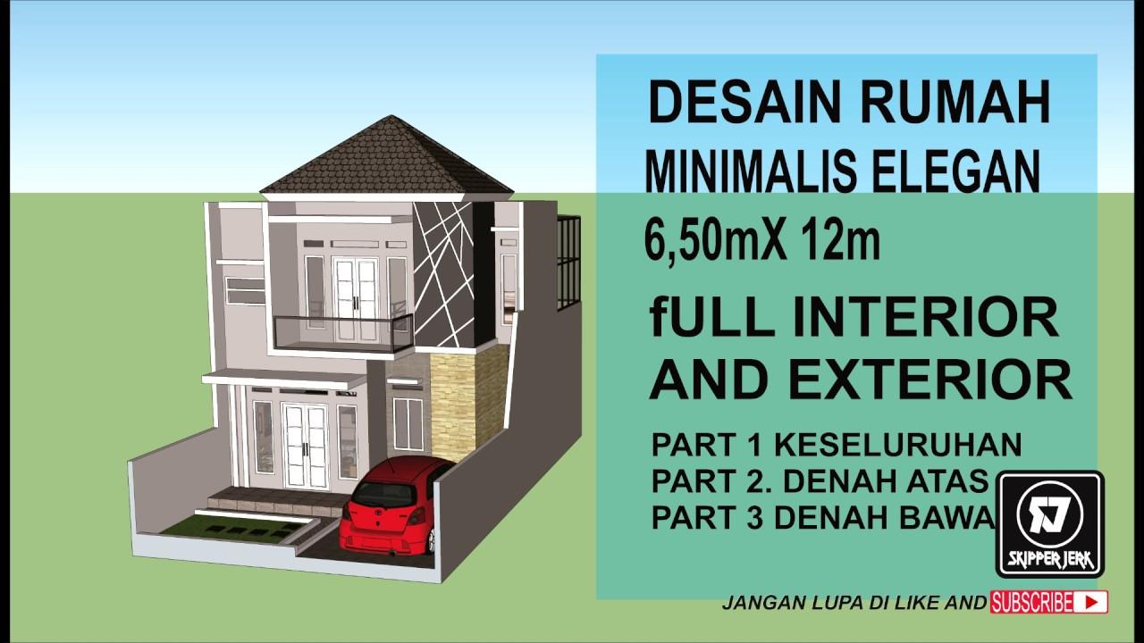 Desain Rumah Minimalis Elegan 6 50m X 12m Modern Terbaru 2019 Youtube