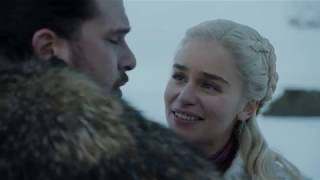 Game of Thrones 8x01- Dragon ride/Daenerys and John ride the dragons/GOT HBO