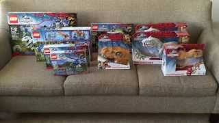 Jurassic World Lego and Hasbro Toys! Toy Haul and Overview!