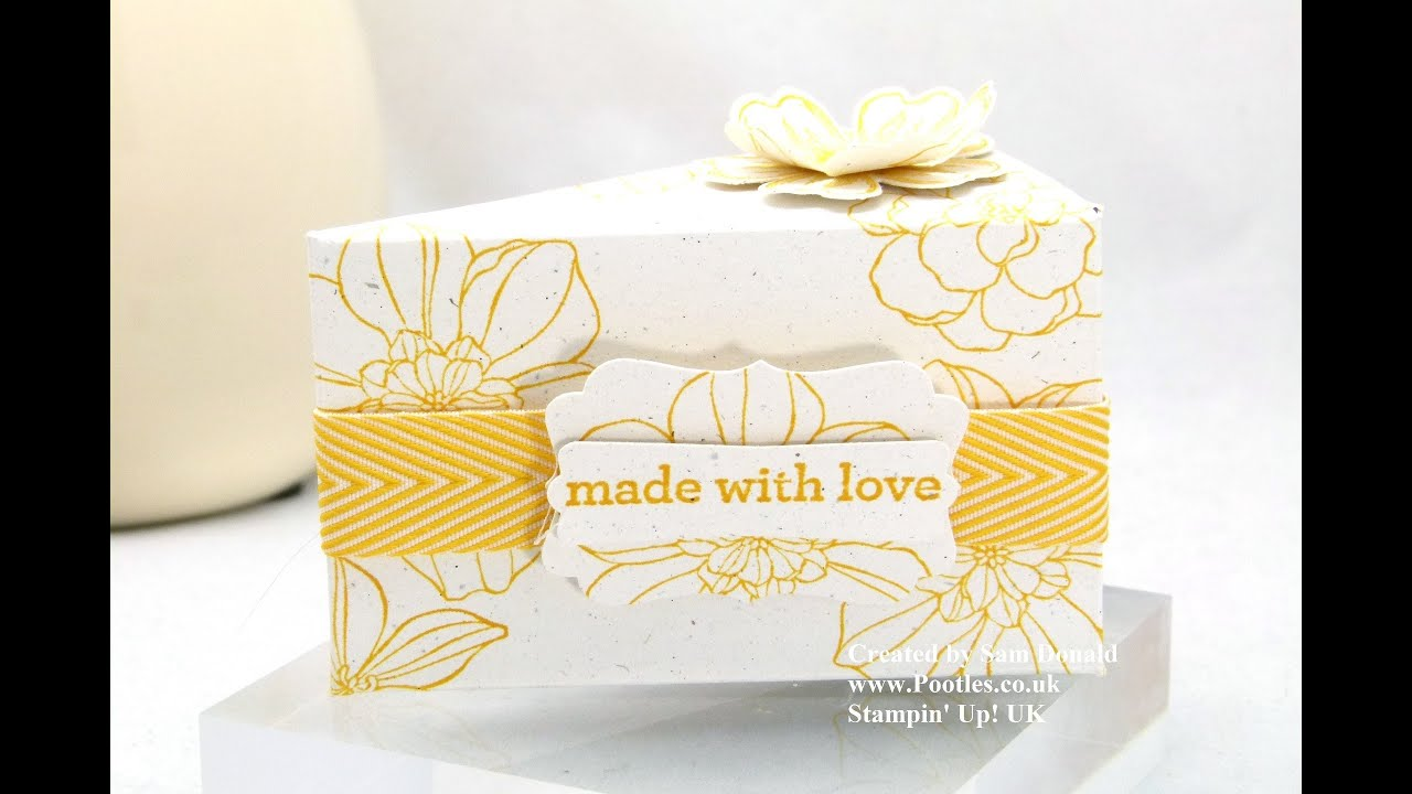 Stampin Up UK Cake Slice Box IMPERIAL Tutorial - YouTube