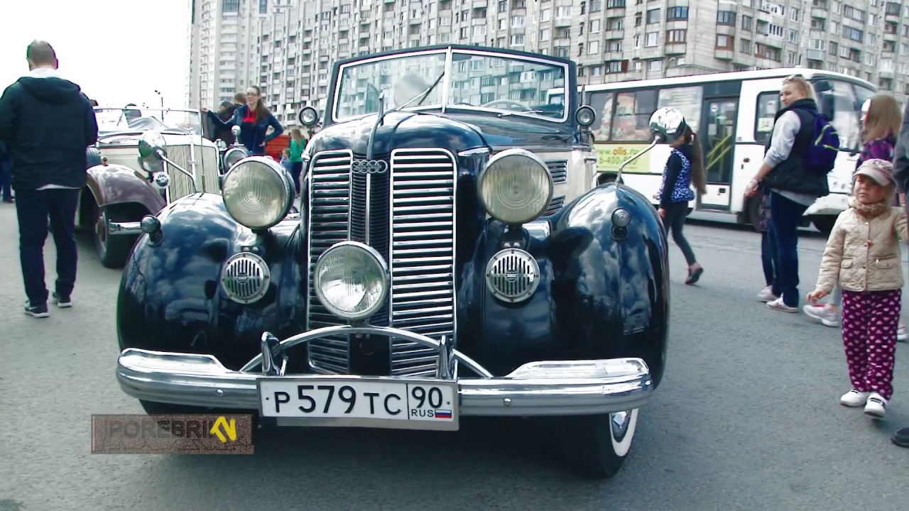 Парад ретро транспорта СПБ 2017! Ретро автомобили. Раритетные авто.