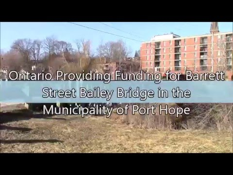 Ontario Providing Funding for Barrett Street Bailey Bridge i