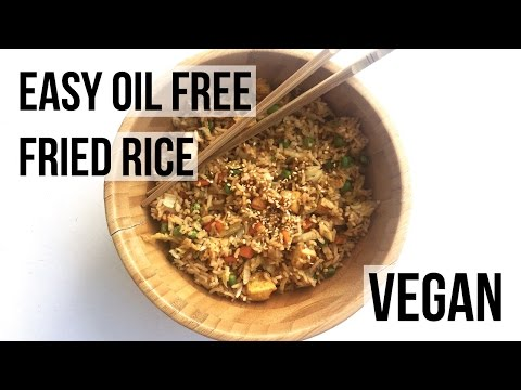 EASY OIL FREE FRIED RICE | VEGAN