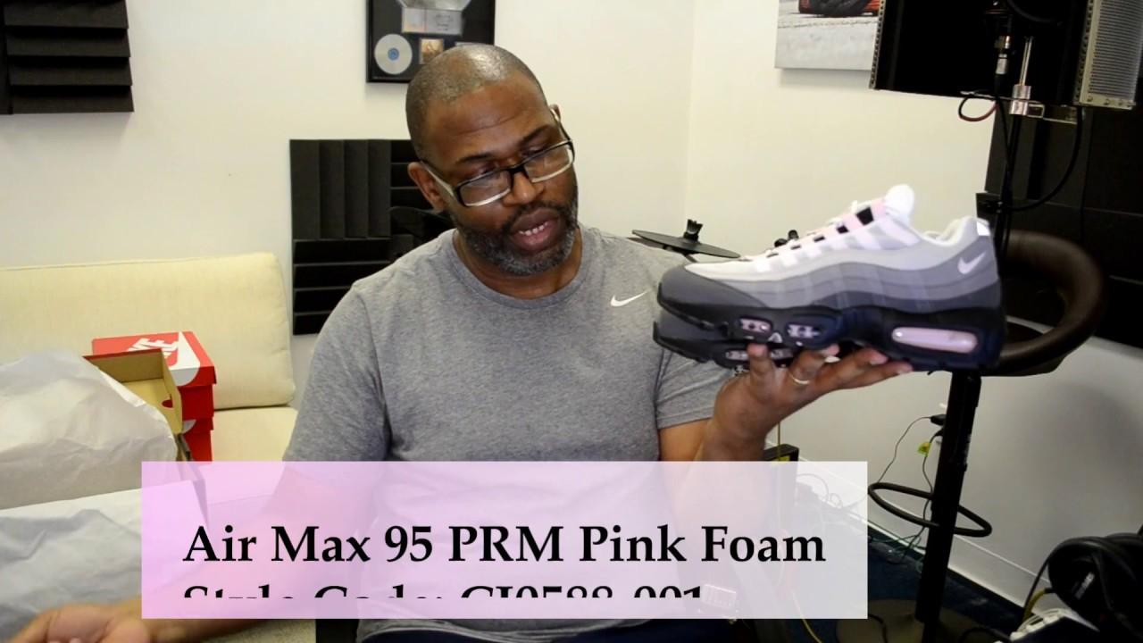 Nike Air Max 95 Prm Cj0588 001 Black Pink Foam Gunsmoke Arch Usa
