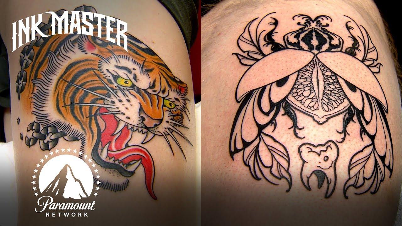 Tiger Head Tattoo Showdown Highlight Grudge Match Youtube