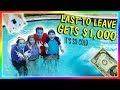 Last to leave freezing pool wins 1 000 we are the davises mp3