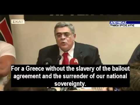 Greek neonazi leader gives Hitler-style speech after the elections