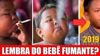 Lembra do Bebê fumante? Veja como ele esta dez anos depois, a mudança impressiona todos