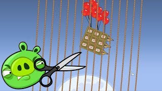 Bad Piggies - INTERESTING FORCE ATOMIC BOMB TO ROPE EXPERIMENT!!