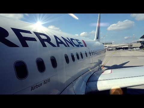 ON THE BABY AIRBUS TO PARIS! | AIR FRANCE | ZURICH-PARIS | AIRBUS A318