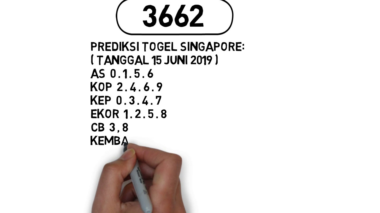 PREDIKSI TOGEL SINGAPORE TANGGAL 15 JUNI 2019 - YouTube