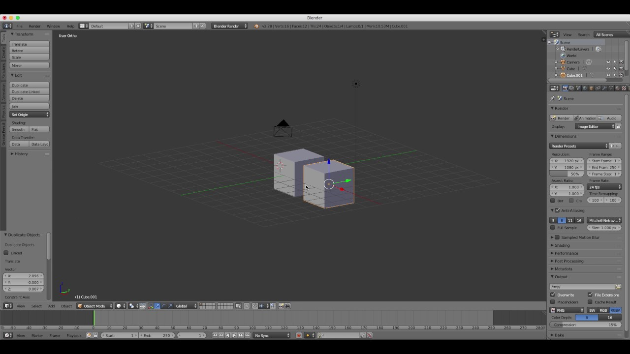 Beginners blender 3d tutorial 1 starting off 278 hd update beginners blender 3d tutorial 1 starting off 278 hd update baditri Image collections