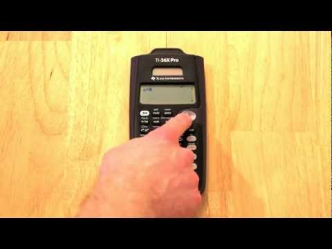 TI-36X Pro For The FE Exam