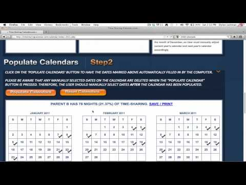 Timesharing Calendar Demo