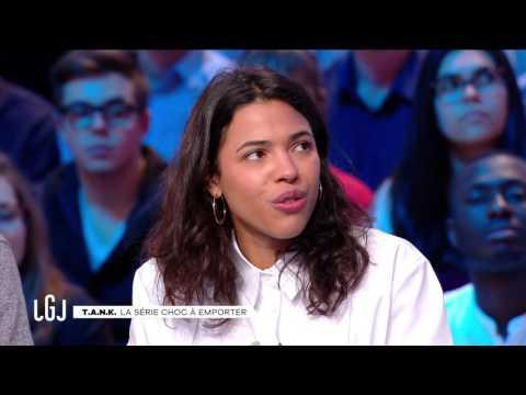 Samuel Bodin et Zita Hanrot pour la web-série TANK - Le Grand Journal du 07/12 – CANAL