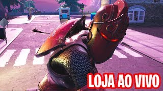 FORTNITE LIVE UNTIL THE STORE UPGRADE TO 200 SKINS-CAVALEIRA RUBRA IN STORE UNTIL UPDATE