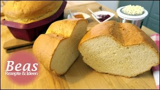 Einfaches Weißbrot Rezept | Helles Brot schnell selber backen | Zutaten