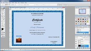 Tutorial Photoshop  Cara cepat membuat Sertifikat(Certificate)anda sendiri di Photoshop