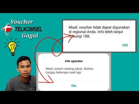 Voucher Telkomsel Tidak Bisa Digunakan Di Regional Anda Youtube