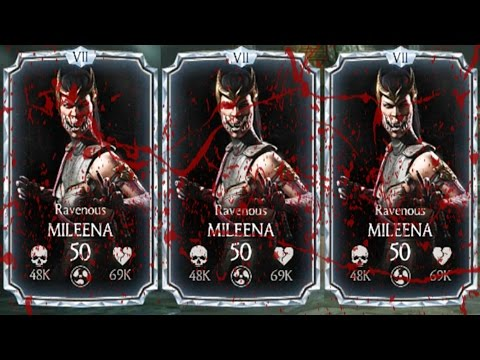 3 RAVENOUS MILEENAS TEAM. BLOOD BATH... OR NOT??? Mortal Kombat X Mobile