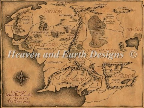 haed middle earth large map update