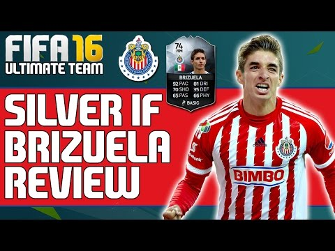 FIFA 16 SILVER IF BRIZUELA PLAYER REVIEW - Guadalajara - Mexico - Liga MX